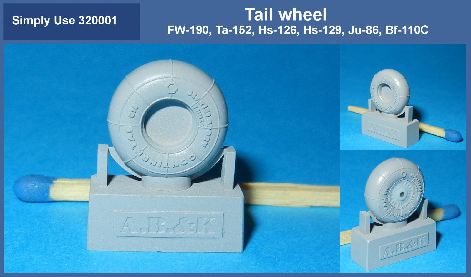 Tail wheel  for FW-190, Ta-152 1/32