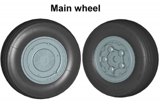 Wheels for Eurofighter Typhoon 1/32
