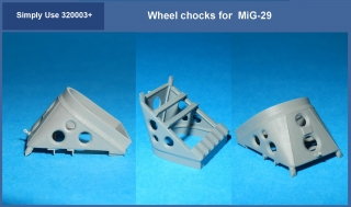 Wheel chocks for MiG-29 1/32