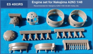 Engine set for kit Nakajima A2N3 (004003) 1/48